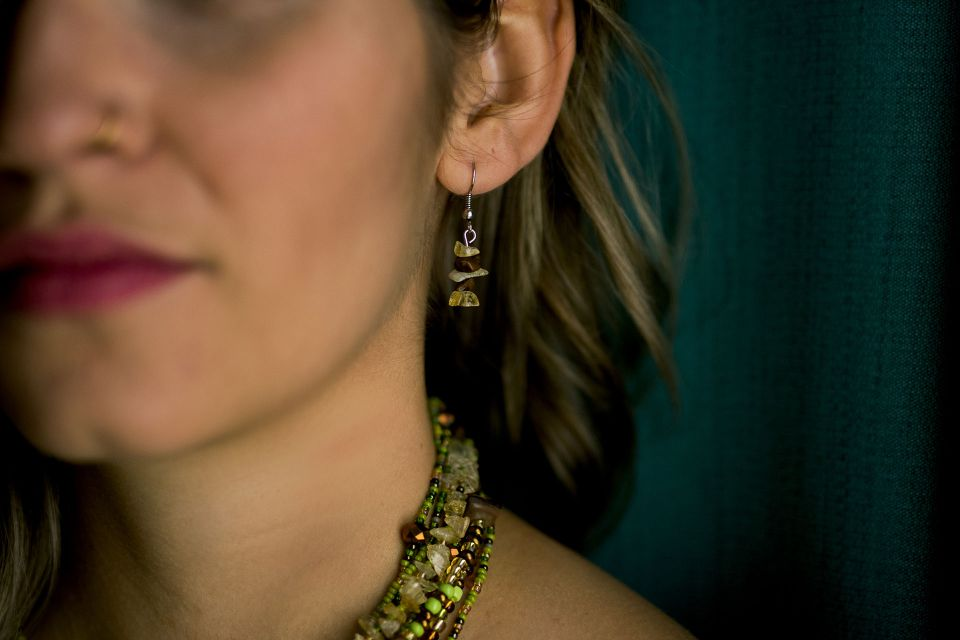 Fair Trade Handmade Guatemalan Rock Candy Earring