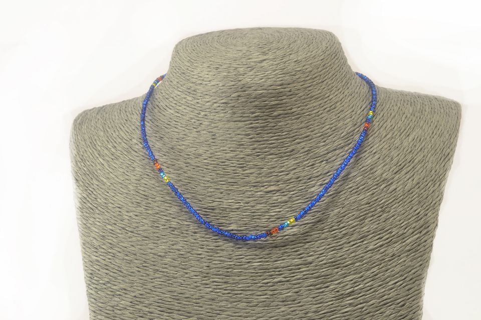 rainbow fair trade handmade beaded necklace jewelry pride