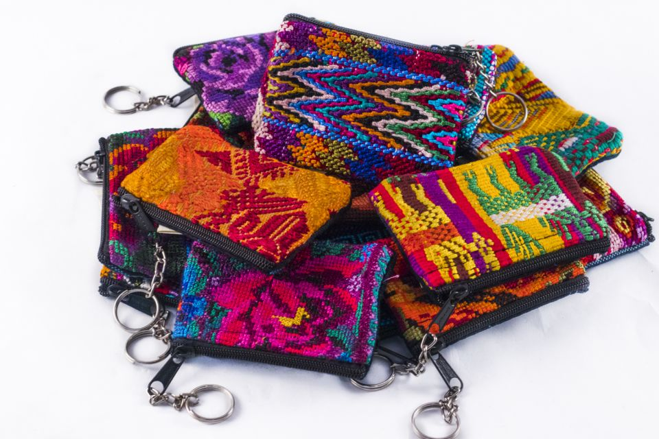 Lucia's Imports Fair Trade Handmade Guatemalan Huipile Keychain