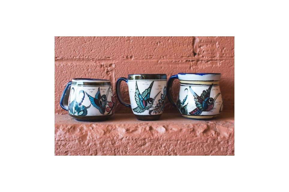 Fair Trade Handmade Guatemalan Ceramic Wild Bird Coffee Mug
