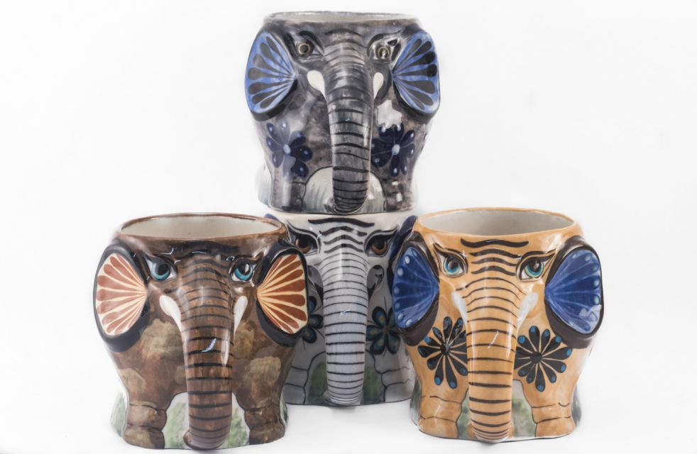 Fair Trade Handmade Ceramic Guatemalan Elephant Coffee Mug